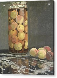 The Peach Glass Acrylic Print by Claude Monet