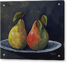 The Pears  Acrylic Print by Torrie Smiley