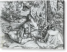 The Penitence Of Saint Jerome Acrylic Print by Lucas the elder Cranach