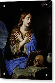 The Penitent Magdalene Acrylic Print by Philippe de Champaigne