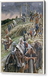 The People Beholding The Things That Were Done Smote Their Breasts Acrylic Print by Tissot