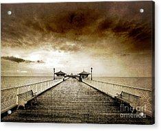 the pier at Llandudno Acrylic Print by Meirion Matthias
