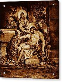 The Pieta Acrylic Print by Dino Muradian