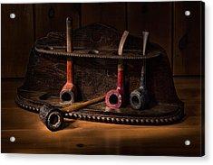 The Pipe Rack Acrylic Print by Ann Garrett