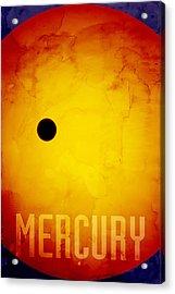The Planet Mercury Acrylic Print by Michael Tompsett