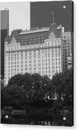 The Plaza Hotel Acrylic Print by Christopher Kirby