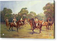 The Polo Match Acrylic Print by C M  Gonne