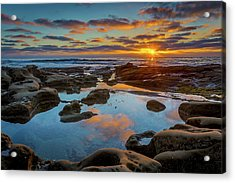 The Pool Acrylic Print by Peter Tellone
