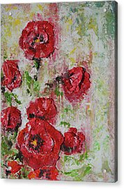 The Poppies Acrylic Print by Tatiana Ilieva