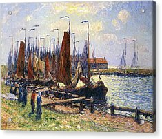 The Port Of Volendam Acrylic Print by Henry Moret