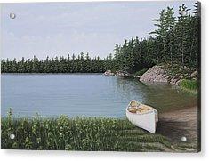 The Portage Acrylic Print by Kenneth M  Kirsch