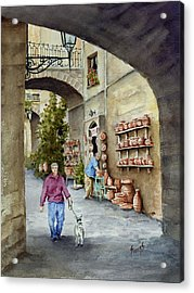The Pottery Shop Acrylic Print by Sam Sidders