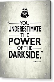 The Power Of The Darkside Acrylic Print by Mark Rogan