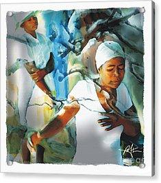 The Prayer Tree Haiti Acrylic Print by Bob Salo