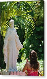 The Praying Princess Acrylic Print by Rob Hans