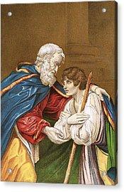 The Prodigal Son Acrylic Print by English School