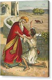 The Prodigal's Return Acrylic Print by  English School