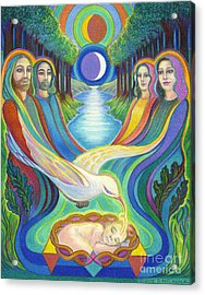 The Prophecy Acrylic Print by Debra A Hitchcock