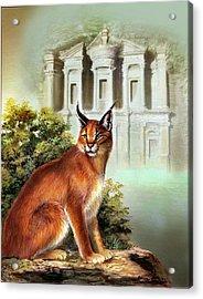 The Protector Of The City Of Petra Acrylic Print by Regina Femrite