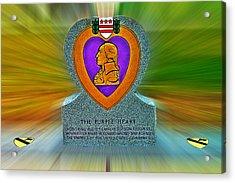 the Purple Heart Acrylic Print by Francisco Colon