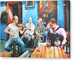 The Quay Players Acrylic Print by Conor McGuire