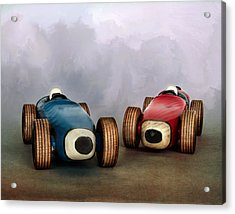 The Race Acrylic Print by David and Carol Kelly