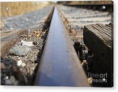 The Rail Acrylic Print by Michal Boubin
