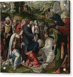 The Raising Of Lazarus Acrylic Print by Aertgen Claesz van Leyden