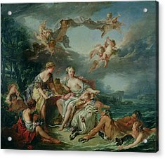 The Rape Of Europa Acrylic Print by Francois Boucher