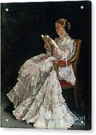 The Reader Acrylic Print by Alfred Emile Stevens
