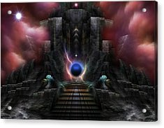 The Realm Of Osphilium Fractal Composition Acrylic Print by Xzendor7