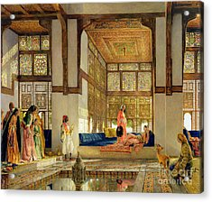 The Reception Acrylic Print by John Frederick Lewis