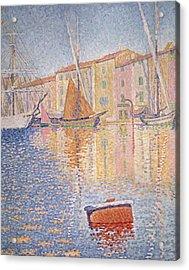 The Red Buoy Acrylic Print by Paul Signac
