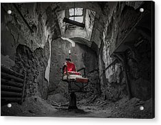 The Red Chair Acrylic Print by Kristopher Schoenleber