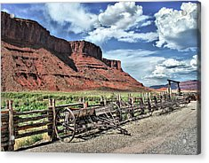 The Red Cliffs Acrylic Print by Gregory Ballos