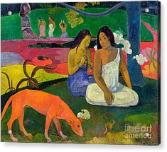 The Red Dog Acrylic Print by Paul Gauguin