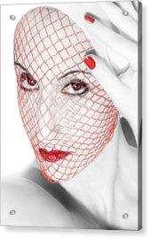 The Red Realm - Self Portrait Acrylic Print by Jaeda DeWalt