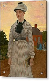 The Red School House Acrylic Print by Winslow Homer