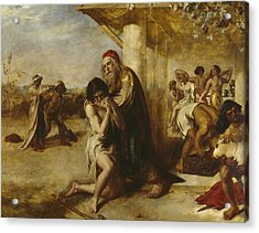 The Repentant Prodigal's Return To His Father Acrylic Print by William Etty