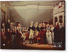 The Resignation Of George Washington Acrylic Print by John Trumbull