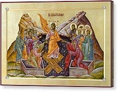 The Resurrection Of Christ Acrylic Print by Julia Bridget Hayes
