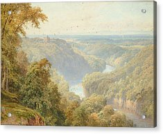 The River Ure Acrylic Print by Harry Sutton Palmer