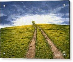 The Road Less Traveled Acrylic Print by Sarah Batalka