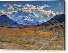 The Road To Denali Acrylic Print by Rick Berk
