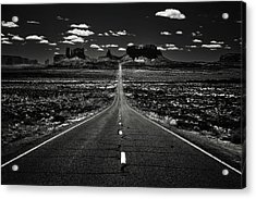 The Road To The West Acrylic Print by Eduard Moldoveanu
