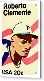 The Roberto Clemente  Acrylic Print by Lanjee Chee