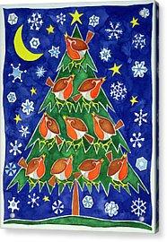 The Robins Chorus Acrylic Print by Cathy Baxter