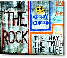 The Rock Acrylic Print by Michael L Kimble