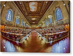 The Rose Main Reading Room Nypl Acrylic Print by Susan Candelario