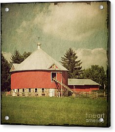 The Round Barn Acrylic Print by Joel Witmeyer